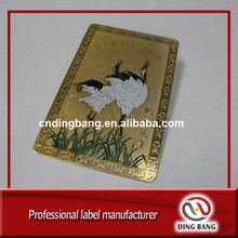 Customized Cheap High Definition Printed Standard Size High Technics Embossed Aluminum Gold Stamped Custom Business Card