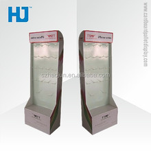 2015 Custom size and hooks hair extension cardboard display stand, hooks display for hair extension