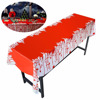 Halloween Blood Table Cover for Halloween Zombie Party Decorations 54 X 108 Inch Halloween Tablecloth