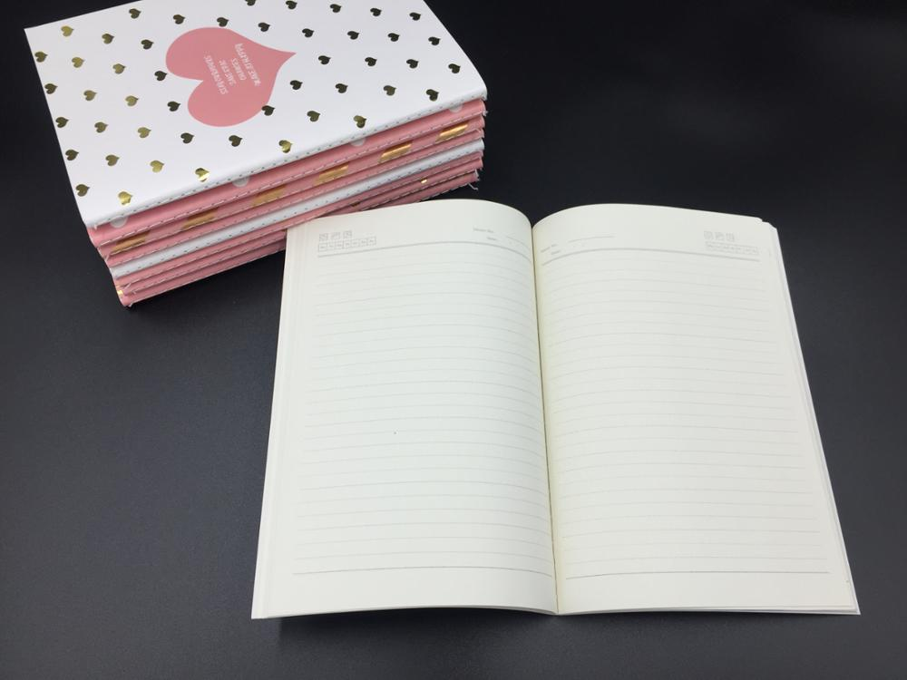 Hot Selling Cheap A5/A6 Soft Paper Cover Sew Binding Notebook With Gold Foiling