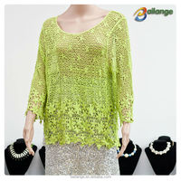wholesale fashion embroidered ladies crochet fashion Blouses for dress
