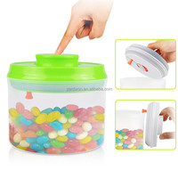 shenzhen 800ml one button open and close clear plastic airtigt food storage container with hanged lid