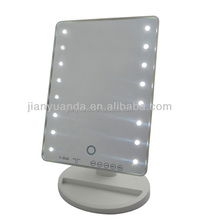 LED makeup mirror lighted mirror with MP3 / Square LED lighted mirror adjustable / Touch sensor makeup mirror with music