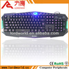 Low price Wired three colors back light gaming keyboard
