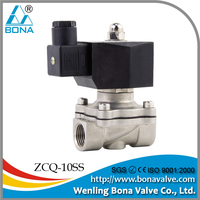 "1/2"" Inch NC Stainless Electric Air Gas Water Solenoid Valve 110V AC Viton Seal"