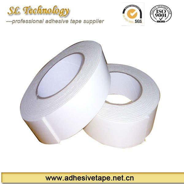 White PE double sided foam tape