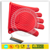 Wholesale silicone oven mitt/silicone oven gloves with fingers