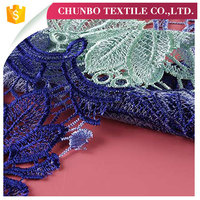 Garments Lace 3d Chemical hand embroidery for dupatta