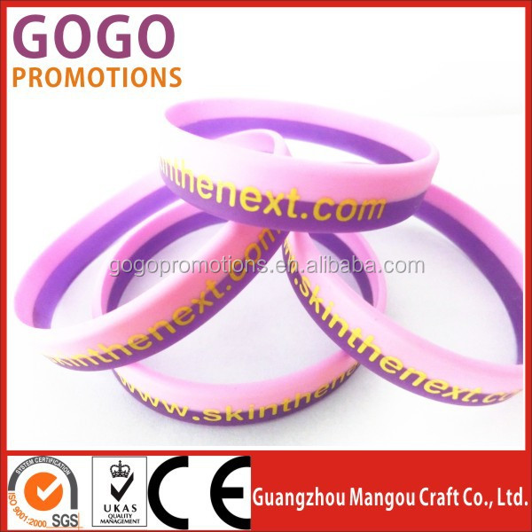 Best quality Cheap Rubber Band two layers silicon bands china wholesale