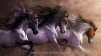 Running wild horse ready to hang canvas art oil painting