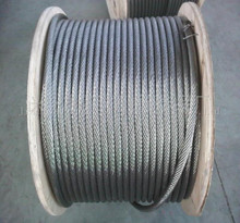 nantong factory 1*19 hot dipped galvanized single strand steel wire cable