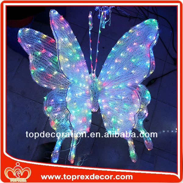 RGB Changing color butterfly inflatable christmas yard decorations