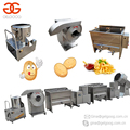 Small Scale Semi Automatic Surgeler Finger Chips Making Machine Frozen French Fries Production Potato Chips Line