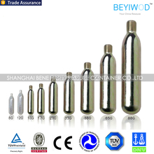 HOT!8g 12g 16g 17g 25g 28g 33g 38g disposalbe co2 gas tank mini co2 gas cartridges co2 gas cylinder