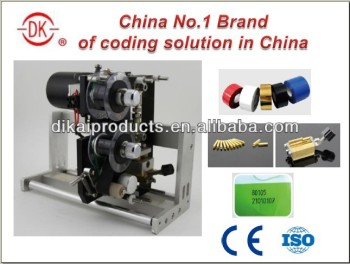 DK-700 Hot Ribbon expiry date stamping printer for automatic numbering machine