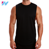 OEM factory high quality 100% cotton men gym tank top