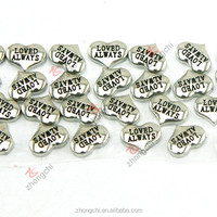 Princess heart charms, floating silver heart locket charms wholesale