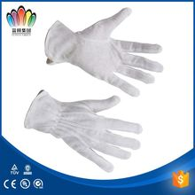 FT SAFETTY White 100% Cotton Lisle Non-skid Inspector/Etiquette Glove With Mini PVC Dots