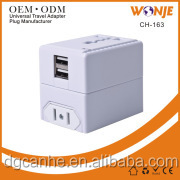 USA to UK Plug Adapter - SMART POWER. Worldwide all-in-one Travel Adapter with a Universal AC Socket and USB Charger Ports