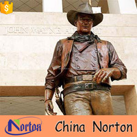 cowboy sculpture bronze material collectibles statues for outdoor NTBH-S749X