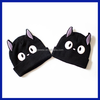 2016 Cute bunny ears hat knit cap 2015 new children's winter cotton baby hat