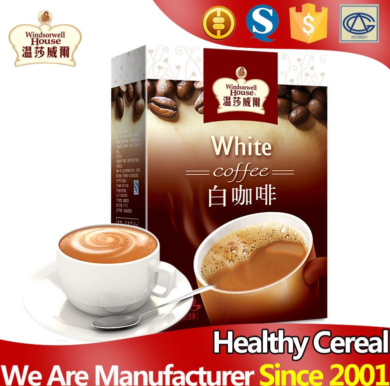 High grade fragrant 3 in 1 instant white coffee