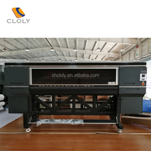 China smart four printhead high speed printing color flatbed digital printing machine 1800mm big format fabric printer