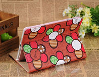For Apple iPad Mini Sun Flower PU Leather Folio Stand Case Cover