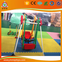 indoor JMQ-G223C used Twins baby face to face plastic swings seat