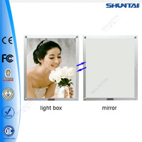 Shuntai factory illuminated magic LED sensor mirror light frames