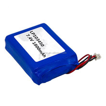 rechargeable lithium polymer 7.4v battery pack 103450 1800mAh portable dvd player 7.4v battery for pos terminal