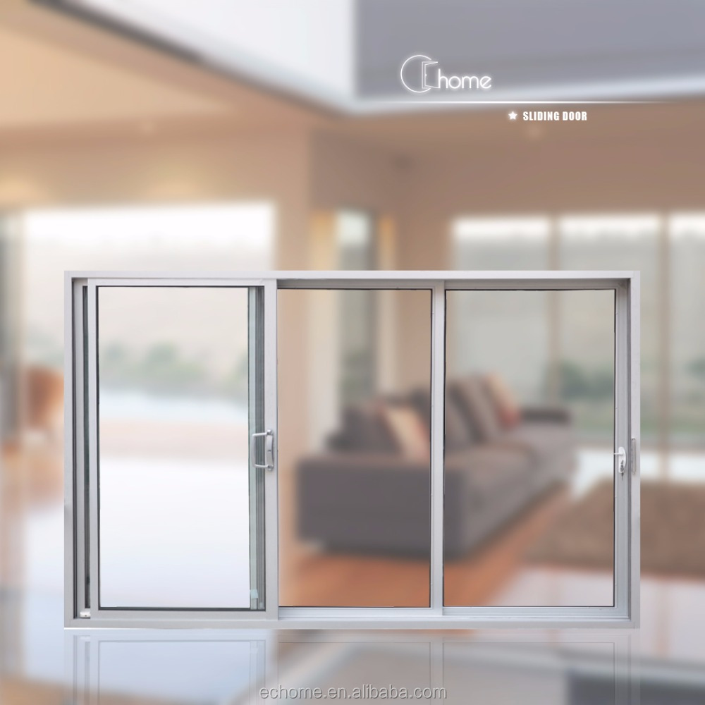 Echome Australia standard aluminum alloy tempered glass heavy duty sliding door with German hardware