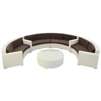 088 outdoor leisure white wickes curved chairs and centre table semi circle patio furniture