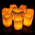 Three different size high quality LED square shape Candle flicker tealight