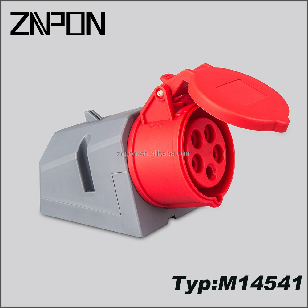 16A 380V 3P+N+E industrial plug and socket M14541