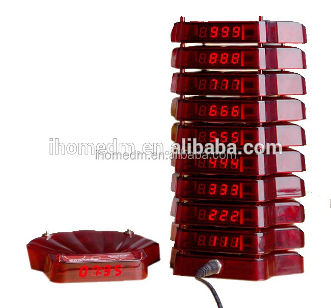 CE IP65 RoHS wireless queuing system wireless coaster guest paging system