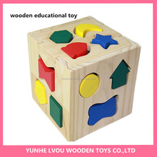 educational colorful intelligent wooden toys for kids game