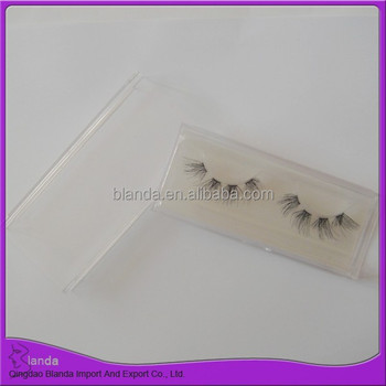 Private label false eyelash strip eyelash human hair lashes