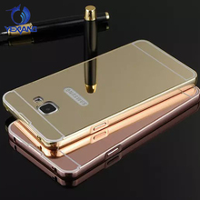 Hot Selling Luxury Aluminum Bumper Cover for Samsung Galaxy S6/S7/J1/J5/J3/J7/J7 Prime Mirror Case