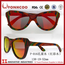 FONHCOO Sport Design Handicrafts Latest Men Women Natural Wood Sun Glasses
