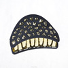 Korean Hair Claw Clip Navy Blue