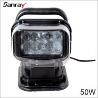square heavy duty 7 inch 50w 12v led tuning work light for agricutural vehicles/offroad/SUV/ATV