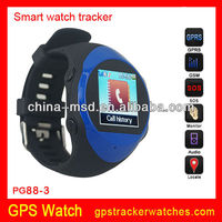 2013 best selling GPS tracker watch phone with GPS SMS/platform location and SOS call function