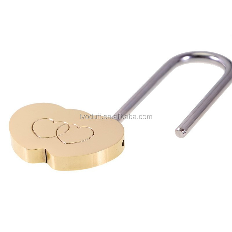 Bulk Price Double Heart Padlock For Valentines Day Gifts