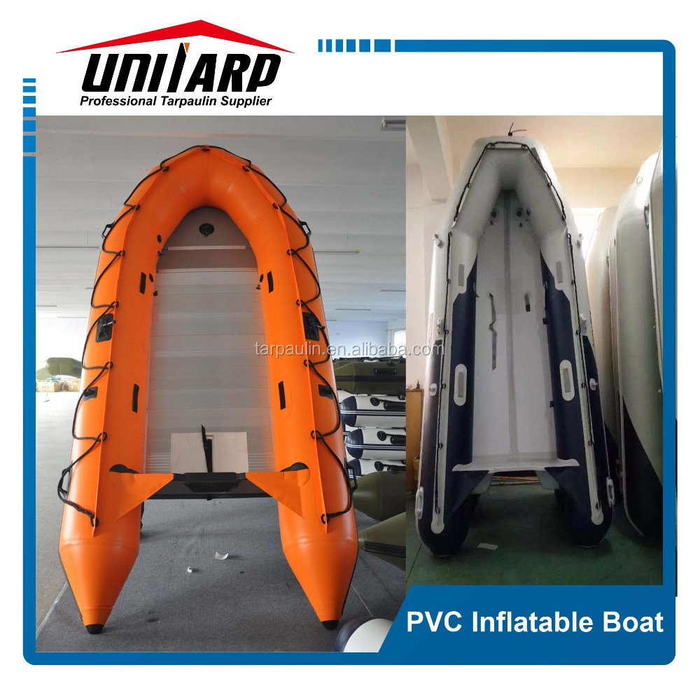 pvc hypalon aluminum floor strong marine inflatable boat
