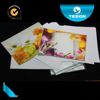 Best quality super white 300gsm double sided glossy waterproof china photo paper A1 A2 A3 A4 size for business card