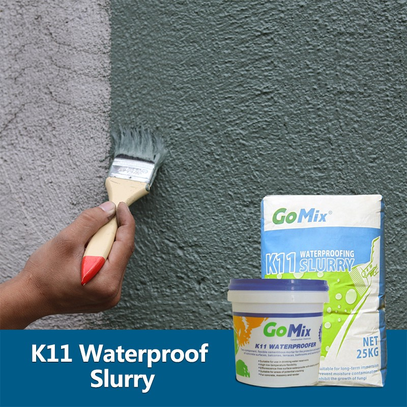Two Parts Cement Based K11 Wall Waterproof Materials with Easy Application and Economical Costs