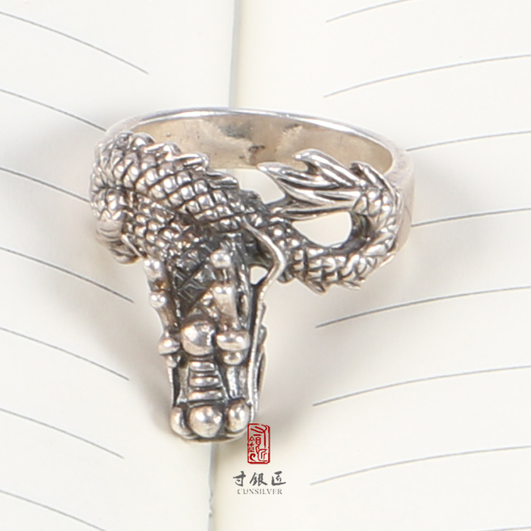 New product 2017 925 thailand Antique Jewelry Thai silver Chinese dragon ring from China famous supplier