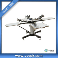 4 color 4 station t-shirt screen printing machine price
