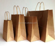 high quality paper gift bag/ small kraft paper bag/ recycled paper bag for glasses